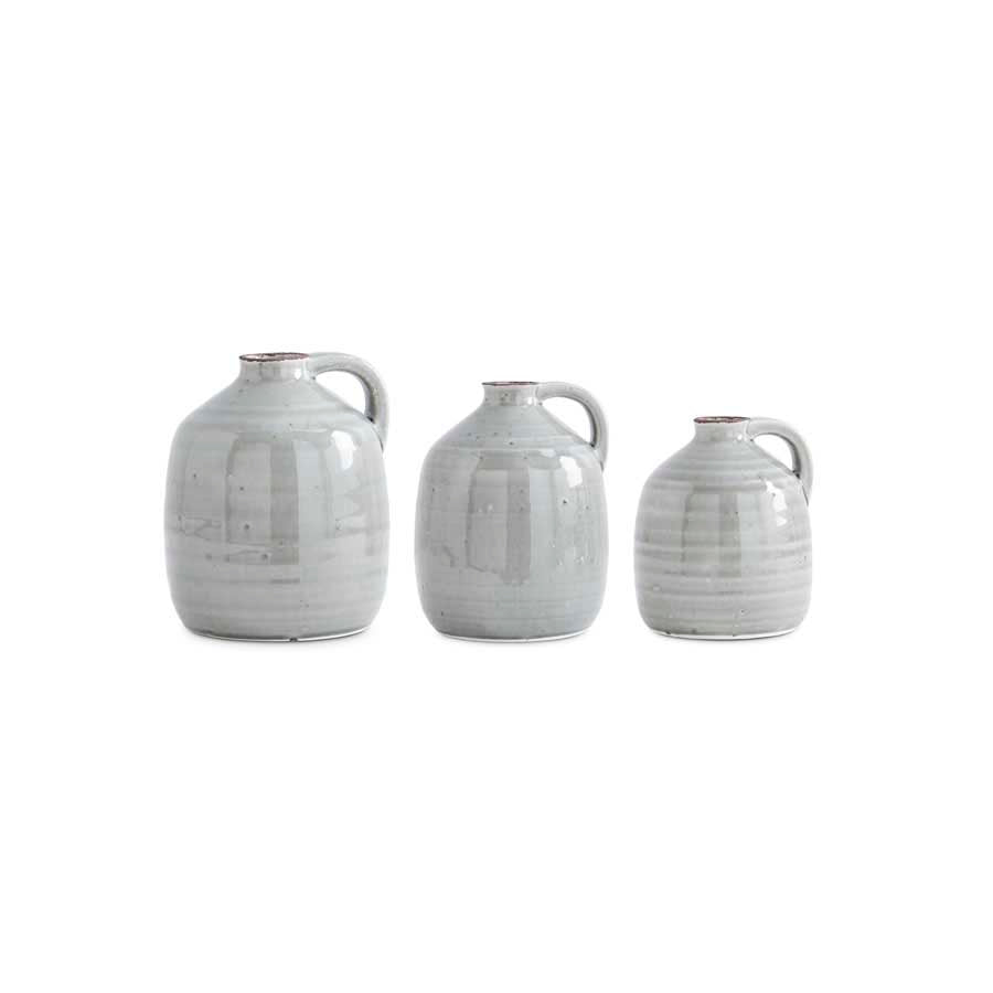 Gray Jugs With Handle - 3 Sizes