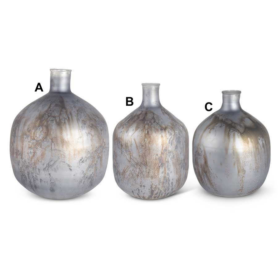 Slate Blue Antique Glaze Bottle - 3 Styles