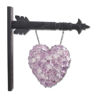 Purple Hydrangea Heart Arrow Replacement