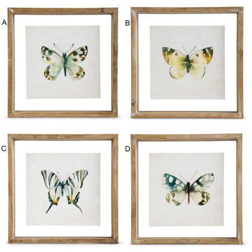 Framed Butterfly Print - 4 Styles