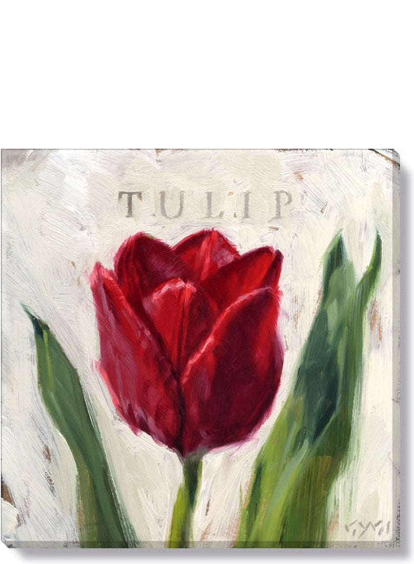 RED TULIP GICLEE WALL ART