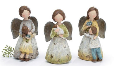 Angel Hugging A Child Figurine - 4 Styles