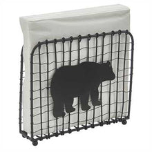 Black Bear Wire Lunch Napkin Holder