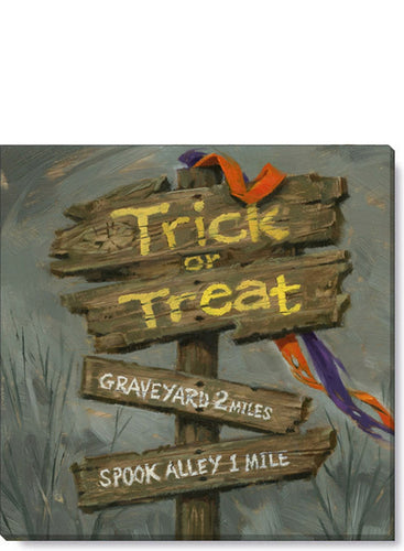 TRICK OR TREAT SIGN GICLEE WALL