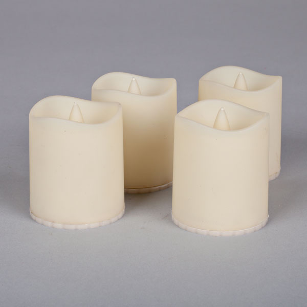 LED Outdoor Votive w. Timer - Set of 4