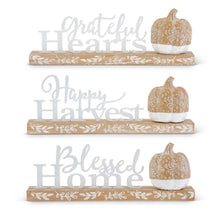 Enamel and Wood Inspirational Harvest - 3 Styles