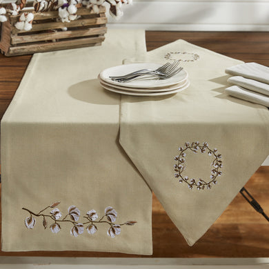 Cotton Wreath Table Runner - 2 Lengths