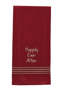 Happily Ever After Embroidered Dishtowel