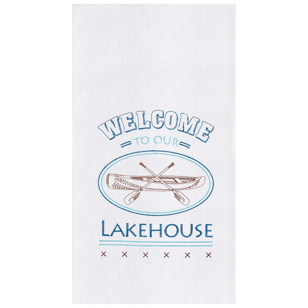 Welcome Lake House Kitchen Towel