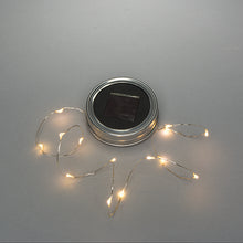 Solar Jar Lid Light String - Silver Wire