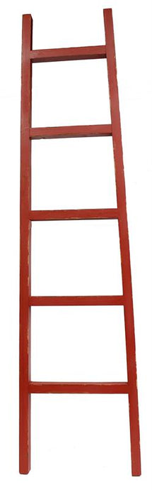 Red Wood Decorative Ladder