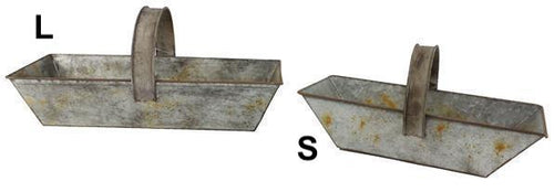 Galvanized Tin Trug - 2 Sizes