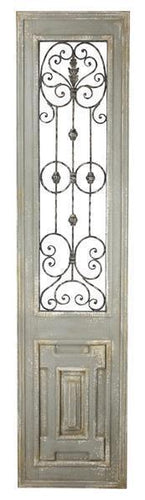Distressed Wood & Iron Door Panel
