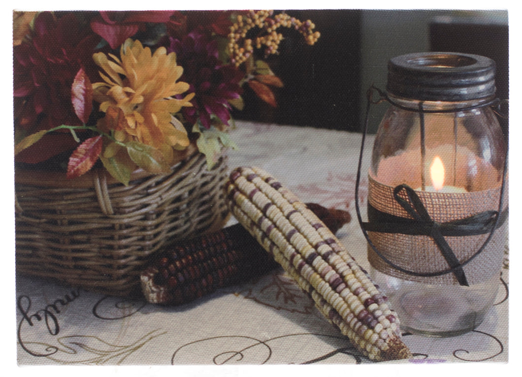 Candle w. Corn Lighted Print