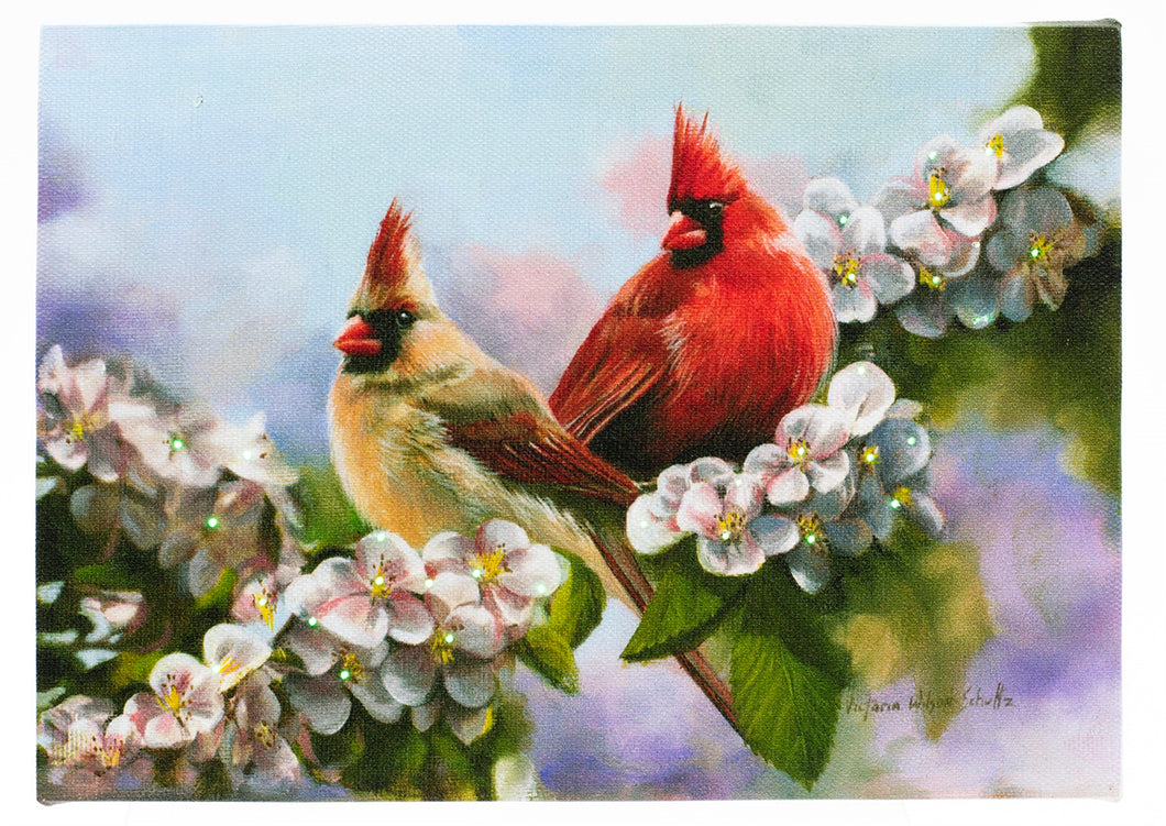 Two Cardinals Lighted Print