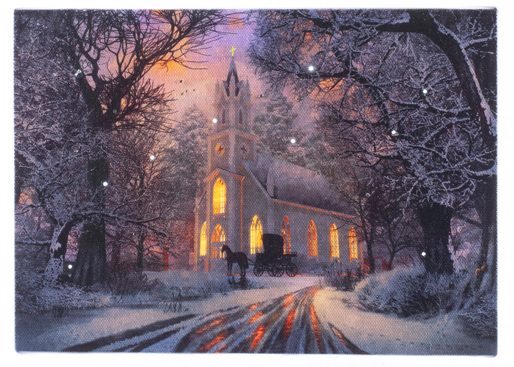 Country Church Lighted Print