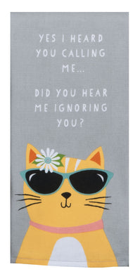 Cat Patch Cool Cat Dual Purpose Terry Towel