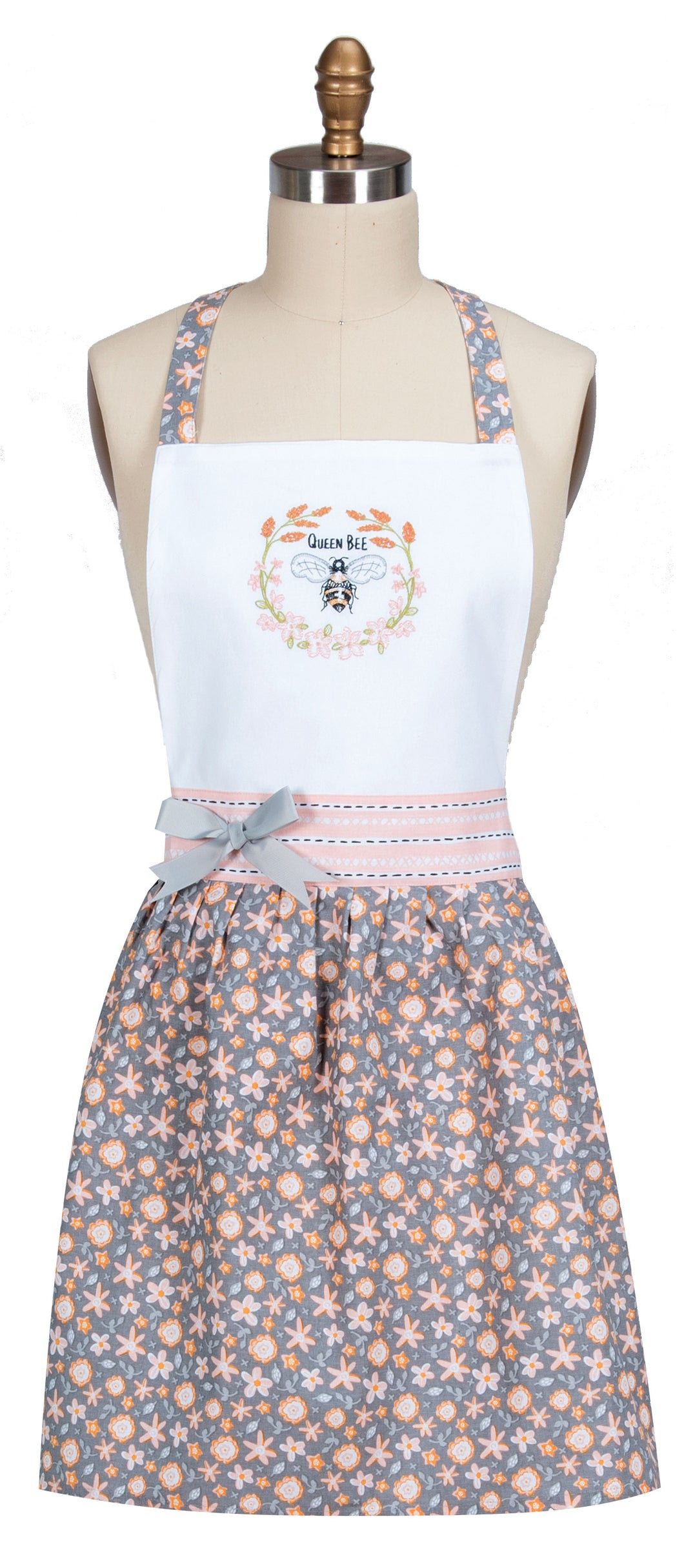 Bee Inspired Embroidered Apron