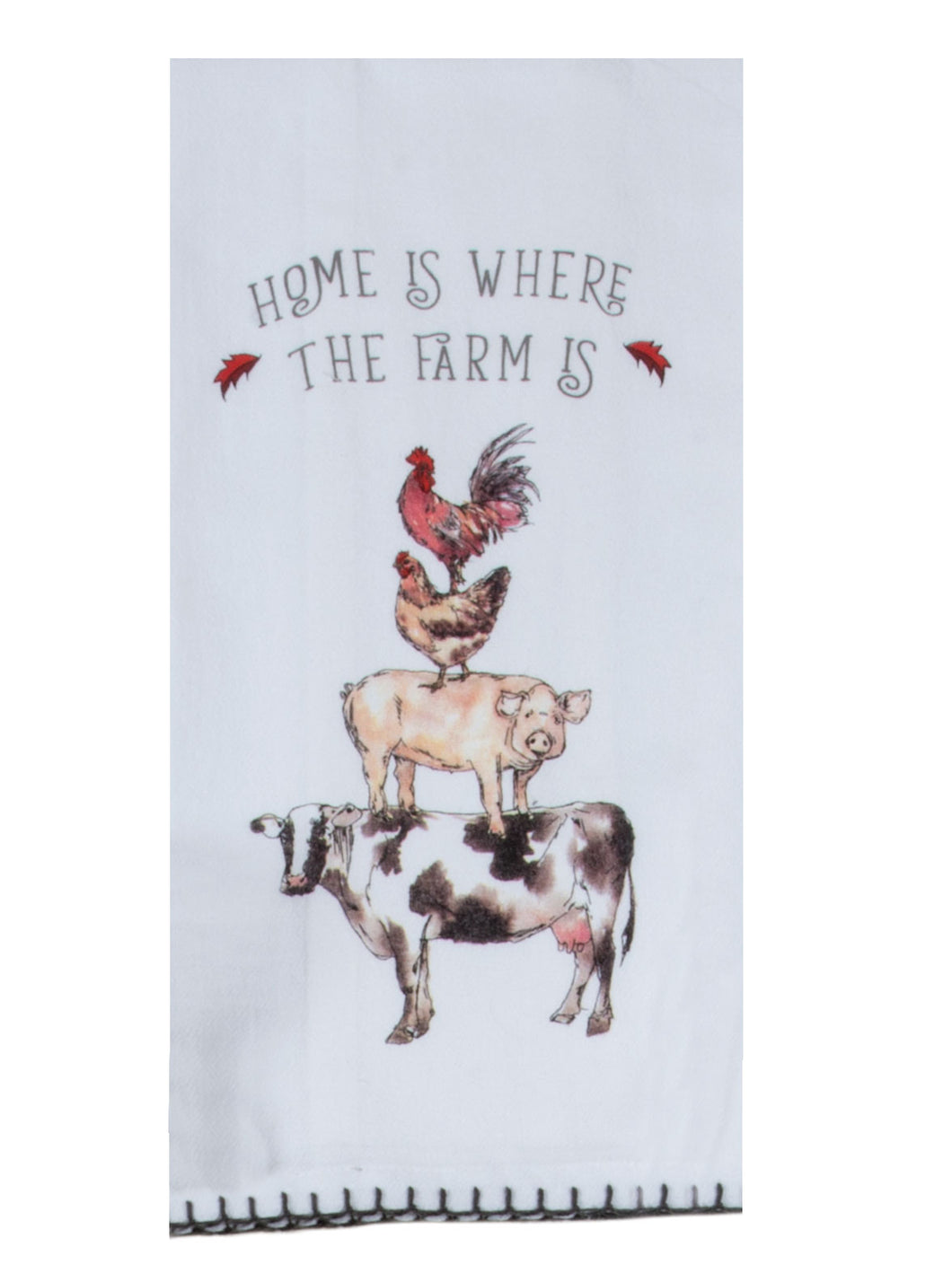 Country Life Stacked Animals Flour Sack Towel
