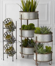 Vertical Iron Stand With Baskets