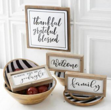 Natural Wood Frame with White Enamel Insert - 3 Styles