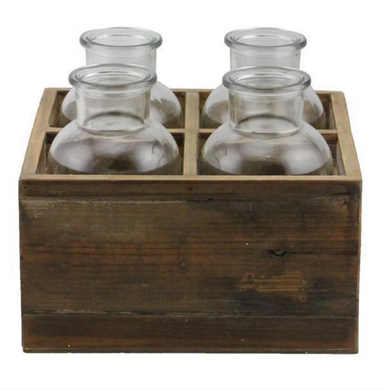 Wood Bottle Tray