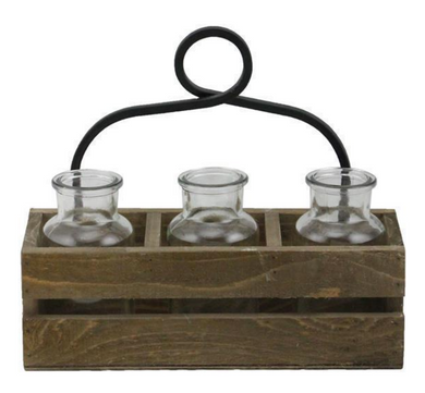 3 Glass Bottle Holder