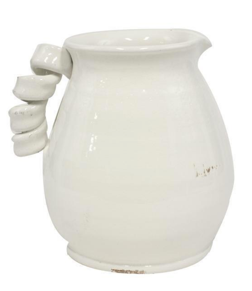 Pitcher w. Twisted Handle - 9.5