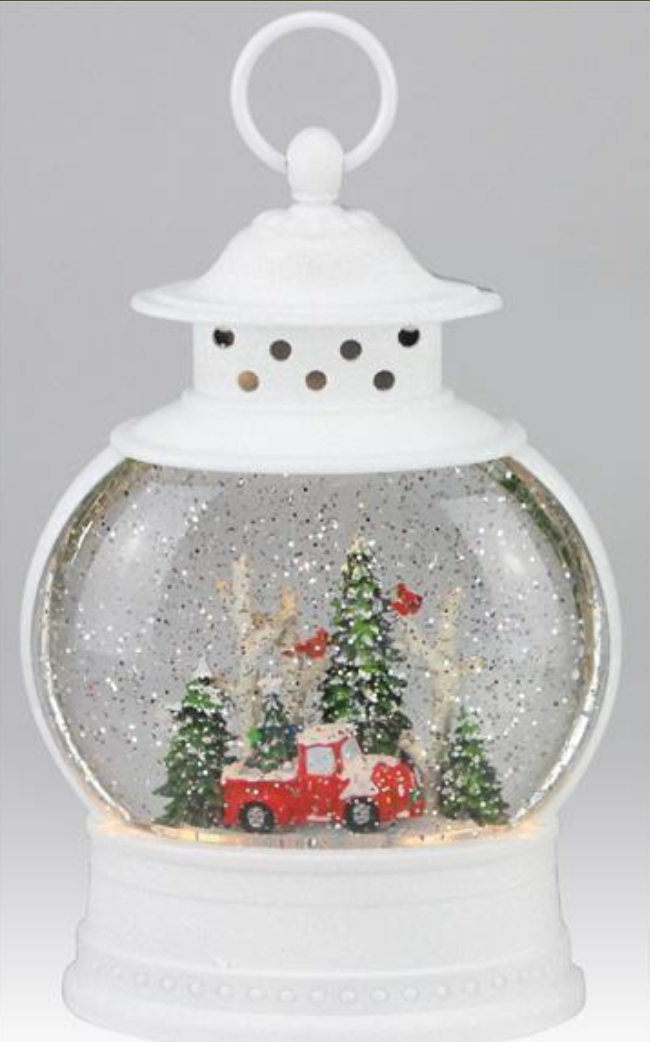 Truck & Tree Lighted Water Lantern