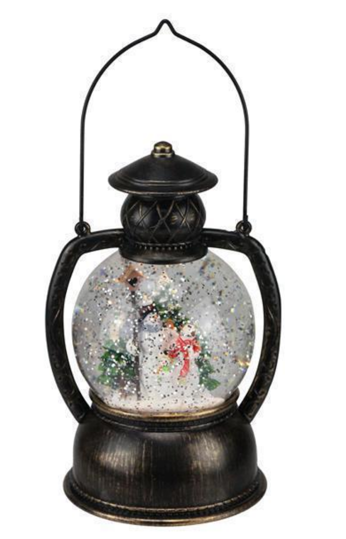 Snowman Lighted Water Lantern