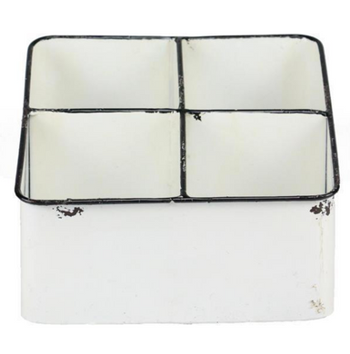 Enamel Cube Divided Tray