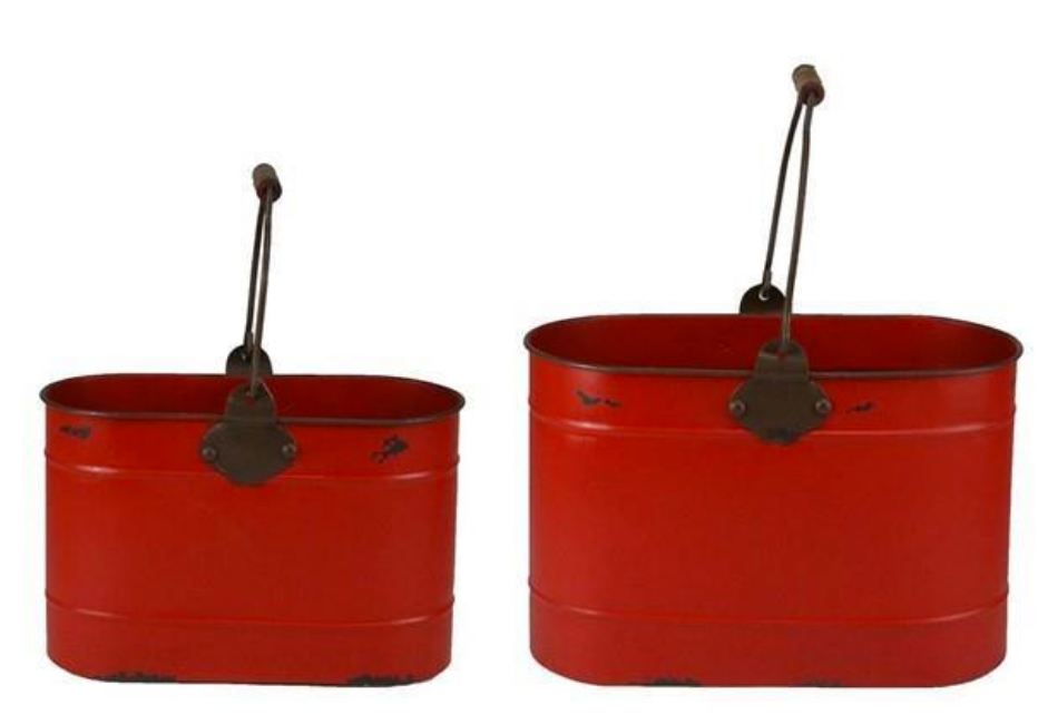 Red Oval Bucket - 2 Sizes