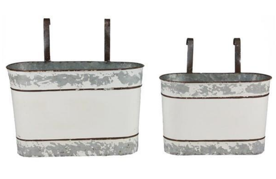 Oval Bucket w. Hangers - 2 Sizes