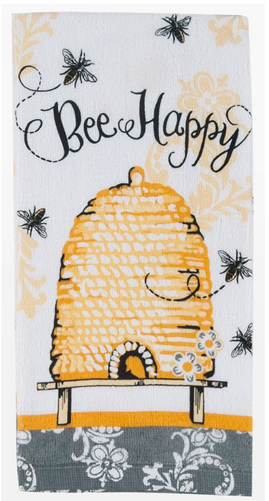 Queen Bee Happy Terry Towel