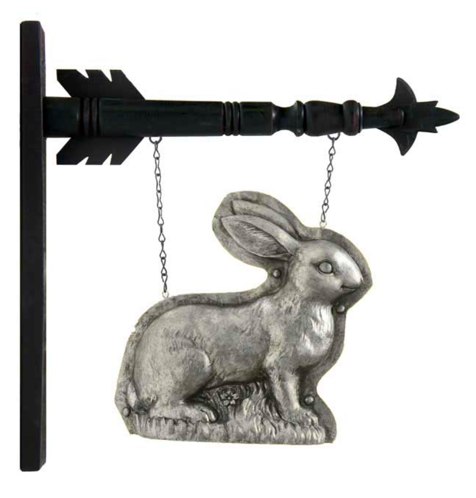 Silver Standing Rabbit Arrow Replacement