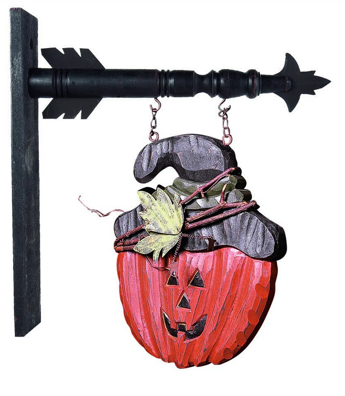 Jack-O-Lantern with Twig Hat Arrow Replacement