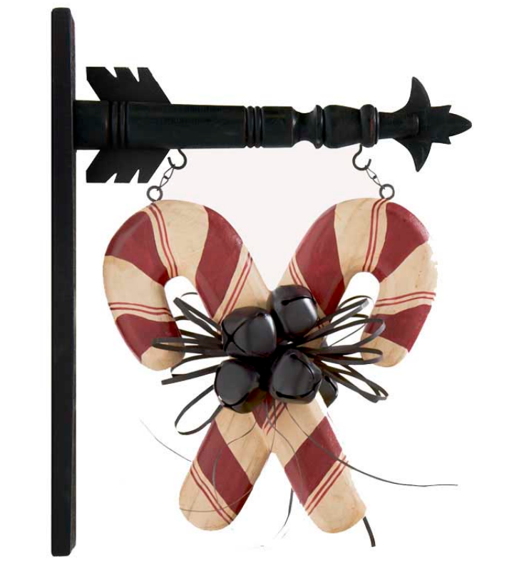 Double Candy Canes with Bells Arrow Replacement
