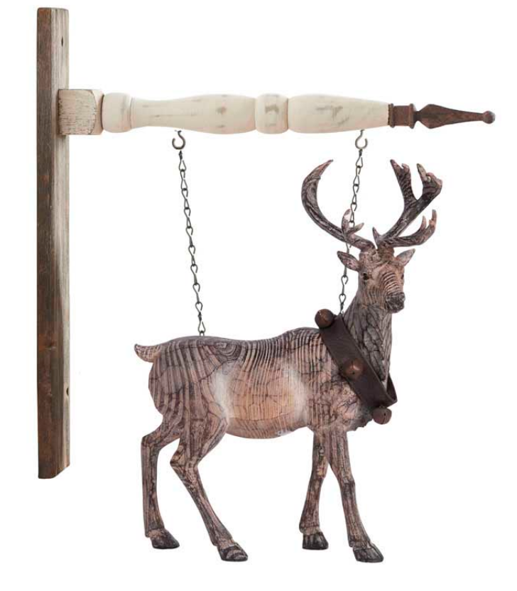 Carved Standing Reindeer With Bell Collar Arrow Replacement