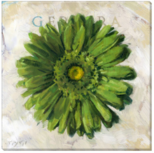 Green Gerbera Wall Art