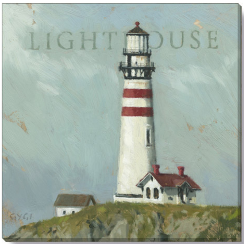 Striped Lighthouse Wall Art - 9