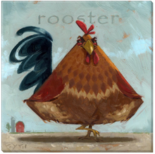Fanciful Rooster Wall Art