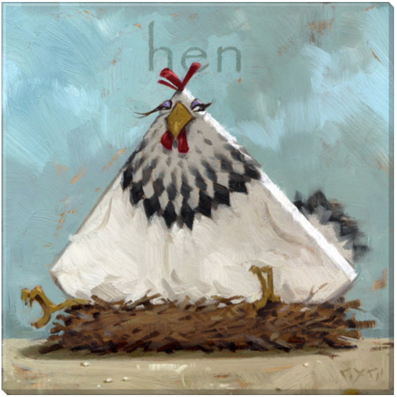 Fanciful Hen Wall Art