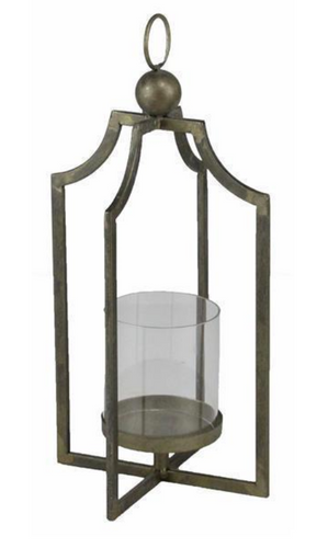 Open Frame Lantern w. Glass Hurricane - 2 Sizes