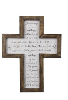 Cross Wood Framed Wall Art