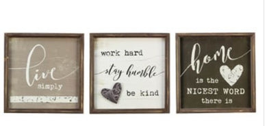 Wall Signs - 3 Styles