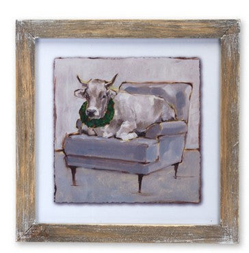 Cow and Chair Print