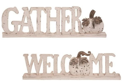 Rustic Word Décor - 2 Styles