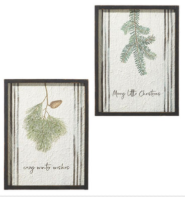 WINTER WISHES WALL ART- 2 Styles