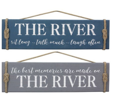 Wood River Wall Sign - 2 Styles