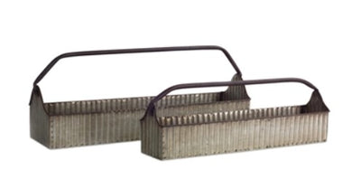 Galvianized Trug 2 Sizes